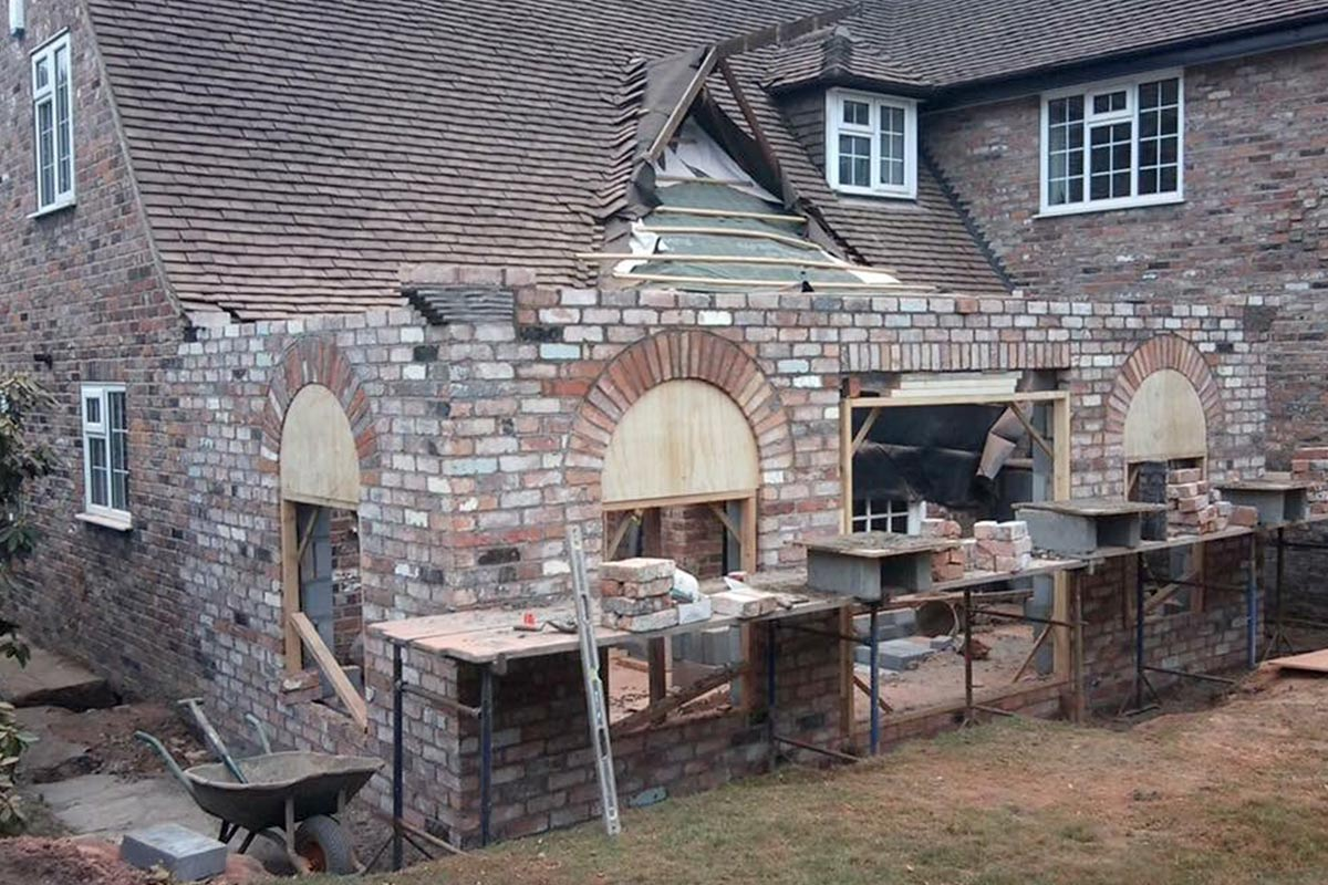 traditional brick extension