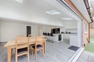 rear extension kitchen bifold doors velux windows manchester didsbury