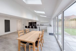 rear extension kitchen bifold doors velux windows manchester didsbury